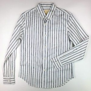 BAND OF OUTSIDERS SIZE SMALL 2 MEN'S STRIPE SHIRT